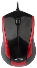 Мышь A4Tech N-400-2 Black/Red USB