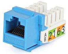 Модуль-вставка Hyperline KJ2-8P8C-C5e-90-BL