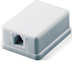 Телефонная розетка Hyperline SB-1-6P4C-C2-WH