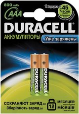 Аккумулятор Duracell (AAA, 800mAh, NiMH, 2 шт)