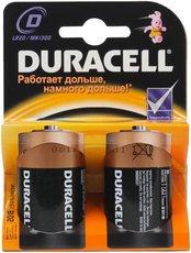 Батарейка Duracell Basic (D, Alkaline, 2 шт)
