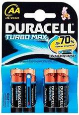 Батарейка Duracell Turbo (AA, Alkaline, 4 шт)