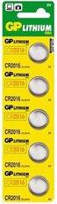 Батарейка GP CR2016 (Lithium, 5 шт)
