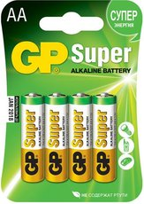 Батарейка GP 15A Super Alkaline (AA, 4 шт)
