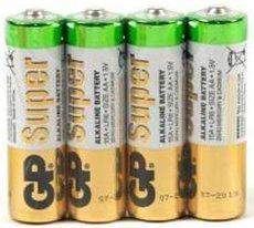 Батарейка GP 15ARS Super Alkaline (AA, 4 шт)