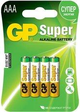 Батарейка GP 24A Super Alkaline (AAA, 4 шт)