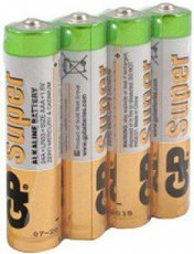 Батарейка GP 24ARS Super Alkaline (AAA, 4 шт)