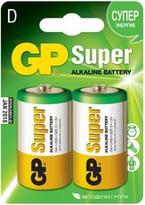 Батарейка GP 13A Super Alkaline (D, 2 шт)