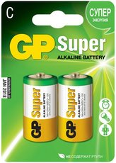 Батарейка GP 14A Super Alkaline (C, 2 шт)