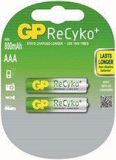 Аккумулятор GP ReCyko+ (AAA, NiMH, 800mAh, 2 шт)