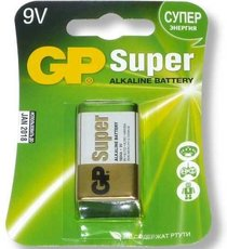 Батарейка GP 1604A Super Alkaline (9V, 1 шт)