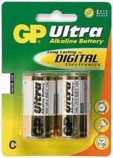 Батарейка GP 14AU Alkaline Ultra (C, 2 шт)