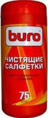Buro чистящие салфетки для плазменных экранов, туба 75 шт (BU-TPSM)