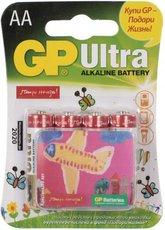 Батарейка GP 15AUGL Ultra Alkaline (AA, 4 шт)