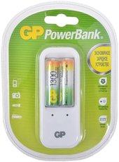 Зарядное устройство GP PB410GS130-2CR2 + 2x AA 1300mAh