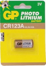 Батарейка GP CR123A (Lithium, 1 шт)