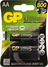Батарейка GP 15LF Lithium (AA, 2 шт)