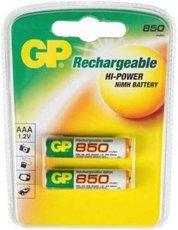 Аккумулятор GP (AAA, NiMH, 850mAh, 2 шт)