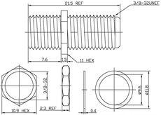 Коннектор Hyperline AD-FT-F-FT-F