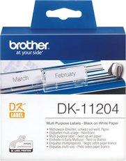 Универсальные наклейки Brother DK11204