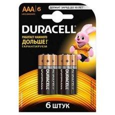 Батарейка Duracell Basic (AAA, Alkaline, 6 шт)