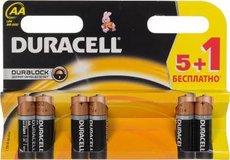 Батарейка Duracell Basic (AA, Alkaline, 6 шт)