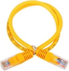Патч-корд Hyperline PC-LPM-UTP-RJ45-RJ45-C6-0.5M-LSZH-YL