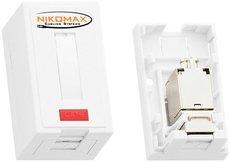 Настенная розетка NIKOMAX NMC-WO1SE2-WT