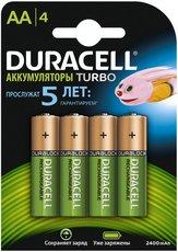 Аккумулятор Duracell (AA, 2400mAh, NiMH, 4 шт)