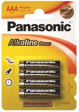 Батарейка Panasonic Power Bronze (AAA, Alkaline, 4 шт)