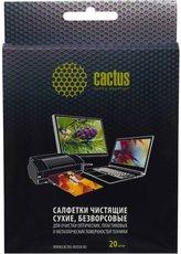 Cactus CS-T1003 чистящие салфетки для всех поверхностей, 15х13мм, 20шт