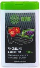 Cactus CS-T1005 чистящие салфетки для планшетов, ноутбуков и моб. телефонов, 100шт