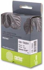 Лента для печати наклеек Cactus CS-TZ251