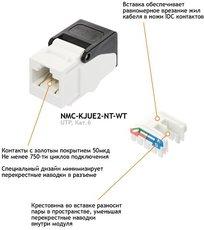 Модуль-вставка NIKOMAX NMC-KJUE2-NT-WT