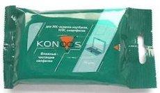 Konoos KSN-15 чистящие салфетки для ЖК-экранов, ноутбуков, смартфонов, КПК, 15 шт.