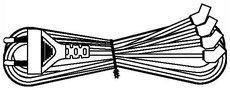 Кабель питания Hyperline KL-FCRD-4F-EU-1.8-BK
