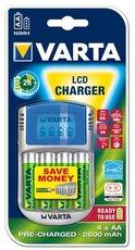 Зарядное устройство Varta LCD Charger + 4x AA 2600mAh
