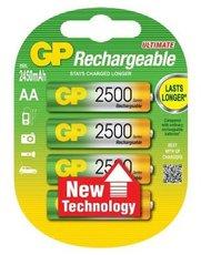Аккумулятор GP (AA, NiMH, 2500mAh, 4 шт)