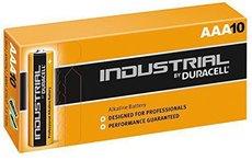 Батарейка Duracell Industrial (AAA, Alkaline,10 шт)