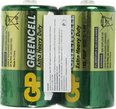 Батарейка GP 13G Greencell (D, 2 шт)