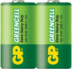 Батарейка GP 14G Greencell (C, 2 шт)