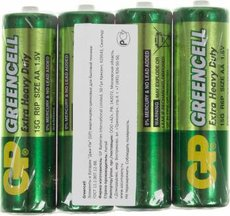 Батарейка GP 15G Greencell (AA, 4 шт)