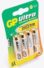 Батарейка GP 15AU Alkaline Ultra (AA, 4 шт)