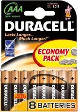 Батарейка Duracell Basic (AAA, Alkaline, 8 шт)
