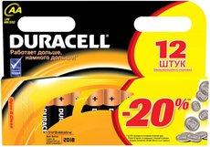 Батарейка Duracell Basic (AA, Alkaline, 12 шт)