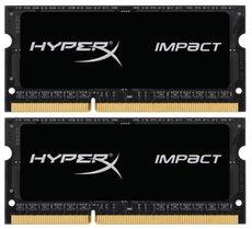 Оперативная память 8Gb DDR-III 2133MHz Kingston HyperX Impact SO-DIMM (HX321LS11IB2K2/8) (2x4Gb)