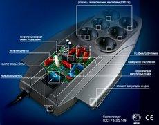 Сетевой фильтр ZIS Pilot X-Pro 3м