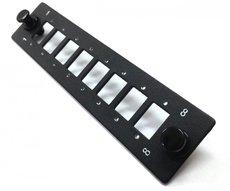 Лицевая панель Hyperline FO-FP-W140H42-8SC/DLC-BK