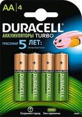 Аккумулятор Duracell (AA, 2500mAh, NiMH, 4 шт)