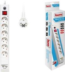 Сетевой фильтр Buro BU-SP1.8_USB_2A-W